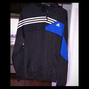 Adidas PullOver, w/Hood & 3/4 Zip